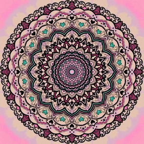 Mandala Project 4 | Pink Sweetheart Watercolor