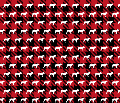 American Bulldog Buffalo Plaid fabric by mariafaithgarcia on Spoonflower - custom fabric