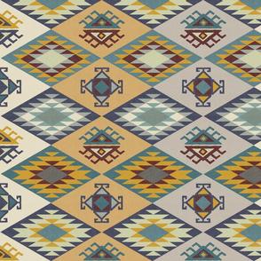 Diamond Kilim - Mustard - Texture