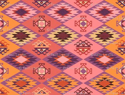 Diamond Kilim - Pink - Texture