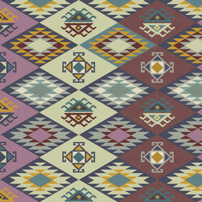 Diamond Kilim - Purple - Texture