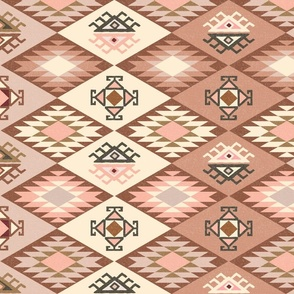 Diamond Kilim - Rose - Texture