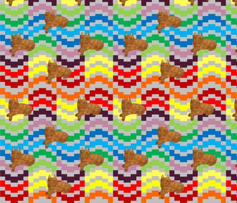 kilims_cats fabric by quizzicalkittydesigns on Spoonflower - custom fabric