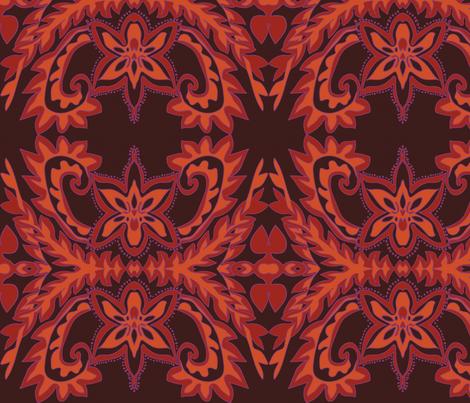 Orchid Rug fabric by nettieandliz on Spoonflower - custom fabric