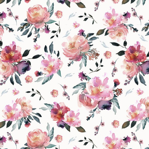 muted spring floral