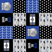 Police (Canadian Flag) Patchwork - Back the blue - thin blue line flag - wholecloth maple leaf (90)