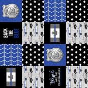 Police (Canadian Flag) Patchwork - Blessed are the peacemakers & Back the blue - thin blue line flag - wholecloth maple leaf (90)