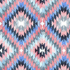 Diamond Kilim Watercolor
