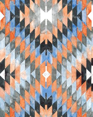Diamond Kilim orange version