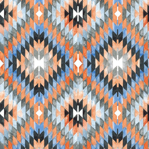 Diamond Kilim orange version
