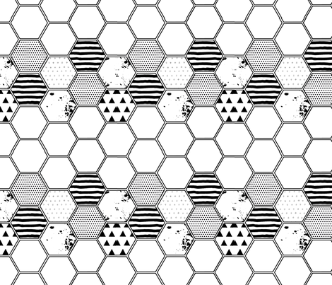 hex fabric by cherise_bloodworth on Spoonflower - custom fabric