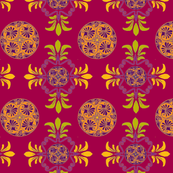 Greek patterns- red