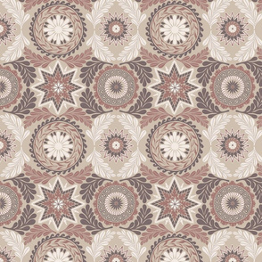 Greek Mandalas in Taupe
