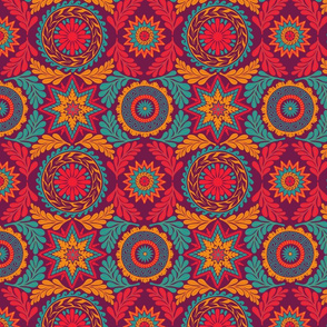 Greek Mandalas in Jewel Tones