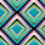 Pastel Gradient Rainbow Kilim Eye
