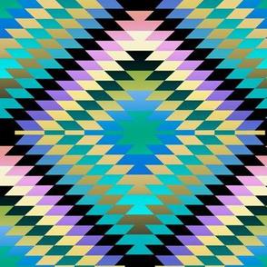 Pastel Gradient Rainbow Kilim Eye