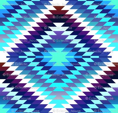 Iceberg Blue Gradient Kilim Eye