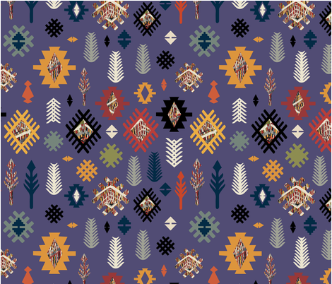 kilim fabric by snailsandroses on Spoonflower - custom fabric