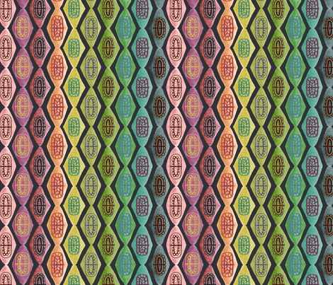 Rainbow kilim fabric by rachelmacdonald on Spoonflower - custom fabric