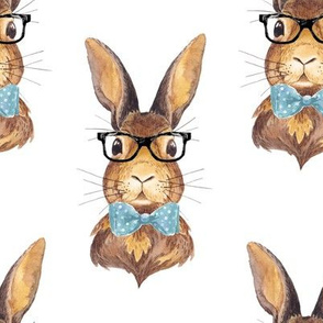 "8"" BUNNY WITH GLASSES"