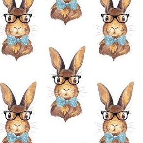 "4"" BUNNY WITH GLASSES"