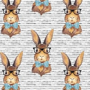 "4"" BUNNY WITH GLASSES /  STRIPES"