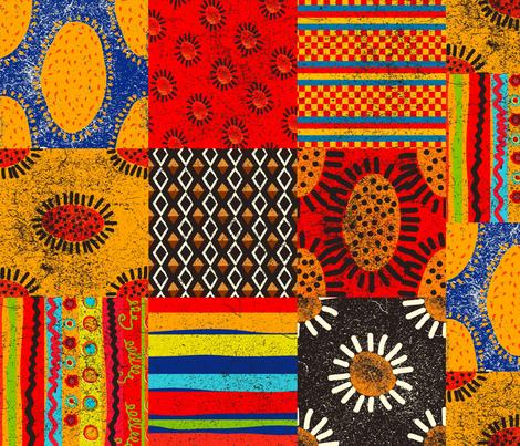 Crazy Kilim fabric by orangefancy on Spoonflower - custom fabric