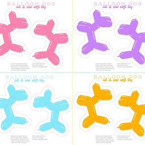 Balloon Dog Soft Toys (16 per yard)