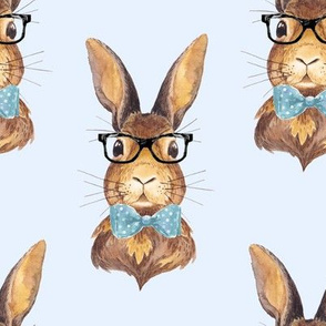 "8"" BUNNY WITH GLASSES / BLUE"