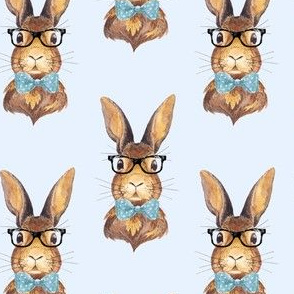 "4"" BUNNY WITH GLASSES / BLUE"