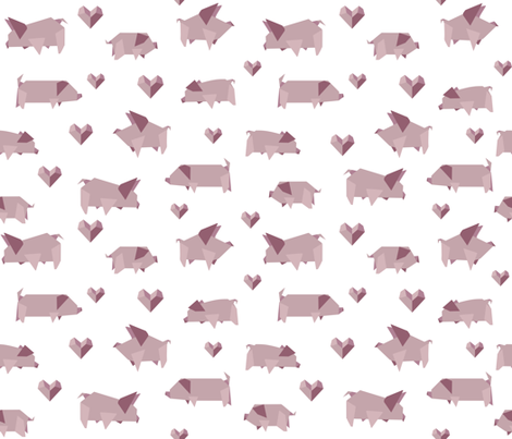 Pig Love fabric by gorzka on Spoonflower - custom fabric