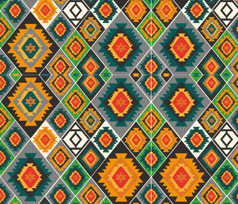 Colours-of-Kilim fabric by kuvio-design on Spoonflower - custom fabric