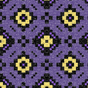 Purple kilim, yellow accents by Su_G