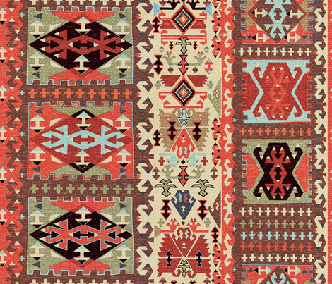 Turkish Kilim 2 fabric by vinpauld on Spoonflower - custom fabric