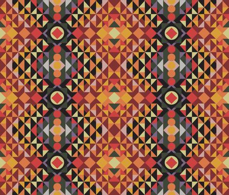 Kilim Geometric fabric by colour_angel_by_kv on Spoonflower - custom fabric
