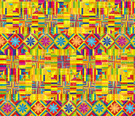 bright kilim fabric by nici_gabriel_designs on Spoonflower - custom fabric