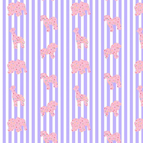 Animal Cookies Pink on Purple Stripes