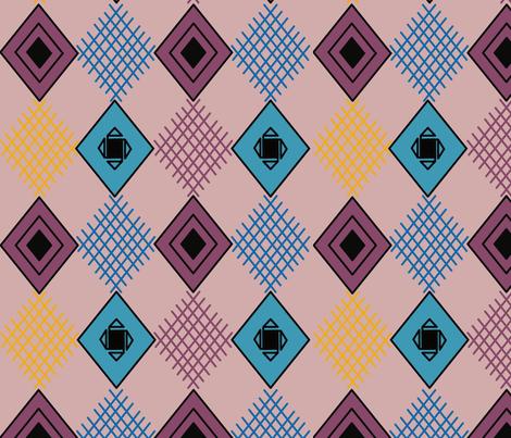 Kilim Design fabric by renatajeanstudios on Spoonflower - custom fabric