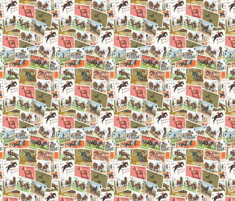 Vintage Off To The Races! fabric by millcitytextiles on Spoonflower - custom fabric