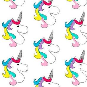 Rainbow Unicorn with Glitter Horn