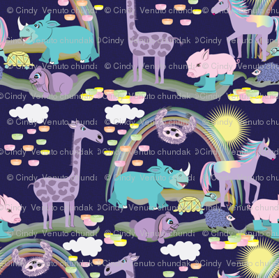 Hare Raising Race, Violet, Animals, Tortoise and the Hare, Turtle, Hedgehog, Giraffe, Rhino, Rabbit, Unicorn, Sloth