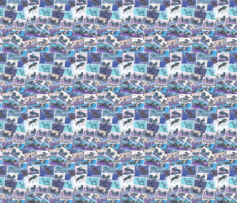 Horses Moving Purple and Blue fabric by millcitytextiles on Spoonflower - custom fabric