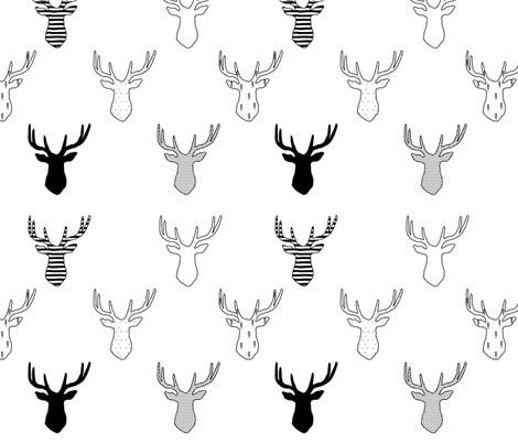 deer.fw fabric by cherise_bloodworth on Spoonflower - custom fabric