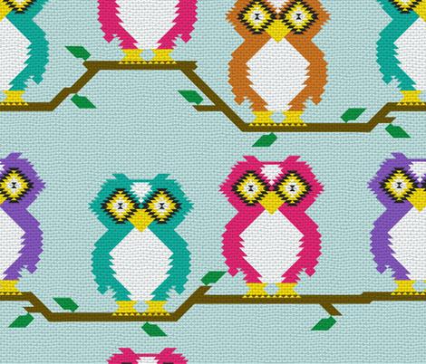 Kilim owl weave fabric by b0rwear on Spoonflower - custom fabric