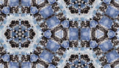 icy blue pattern