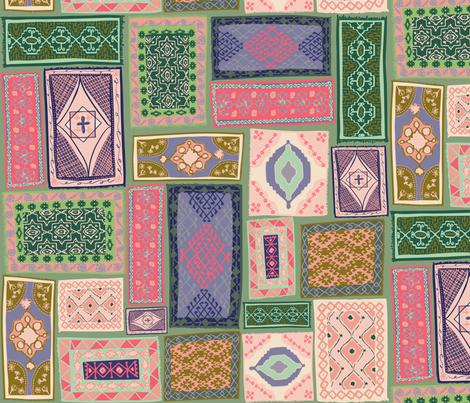 Kilim Rugs Gallery Wall fabric by annastanphill on Spoonflower - custom fabric