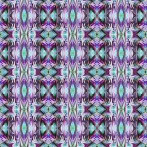 BNS2 - Mini  Haunted  Stripe - Teal/Purple