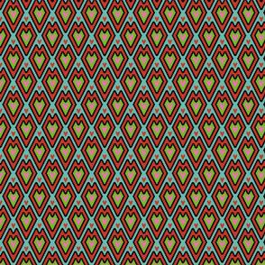 mini kilim hearts colored 3