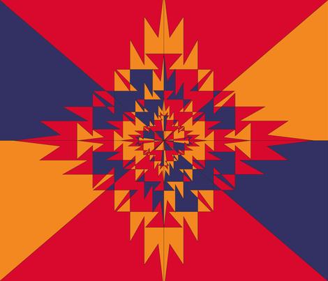 Kilim-Inspired fabric by jackiereynolds on Spoonflower - custom fabric