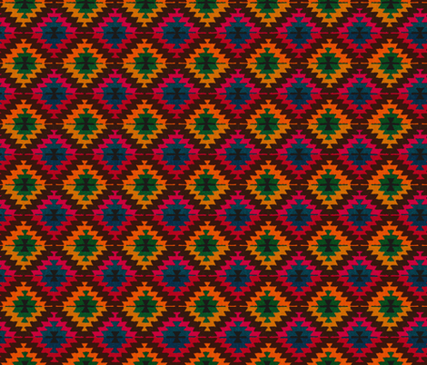 Kilim Karma fabric by fabricadabra_creations on Spoonflower - custom fabric